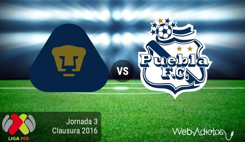 Pumas vs Puebla, Jornada 3 del Clausura 2016 - pumas-vs-puebla-clausura-2016