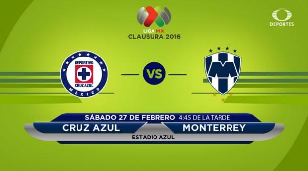 Cruz Azul vs Monterrey, Torneo Clausura 2016 | Jornada 8 - cruz-azul-vs-monterrey-por-televisa-deportes-en-el-clausura-2016