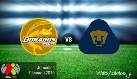 Dorados vs Pumas, Fecha 6 del Clausura 2016 ¡En vivo por internet!
