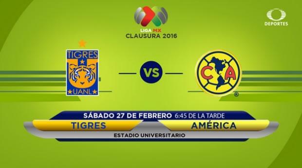 Tigres vs América, Jornada 8 del Clausura 2016   Liga MX - tigres-vs-america-en-vivo-por-televisa-deportes-clausura-2016