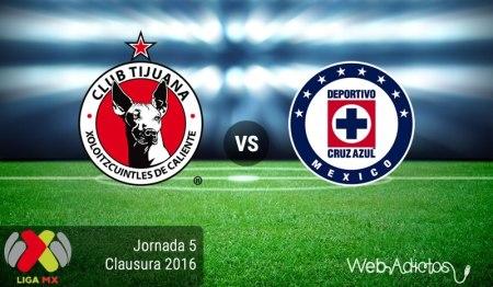 Tijuana vs Cruz Azul, Jornada 5 del Clausura 2016 ¡En vivo por internet! | Liga MX