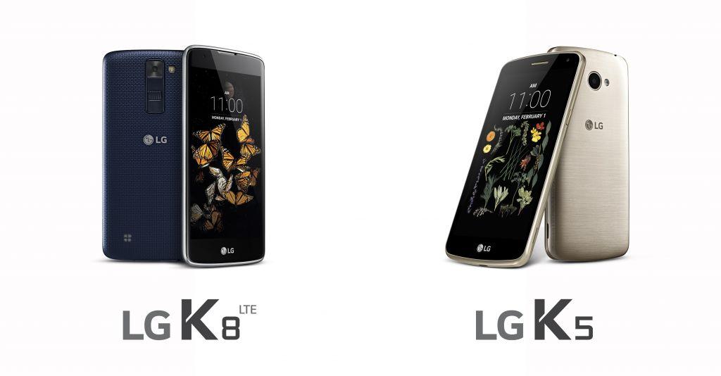 LG presenta dos modelos de la serie K, el K8 y K5 - lg-k8-and-k5