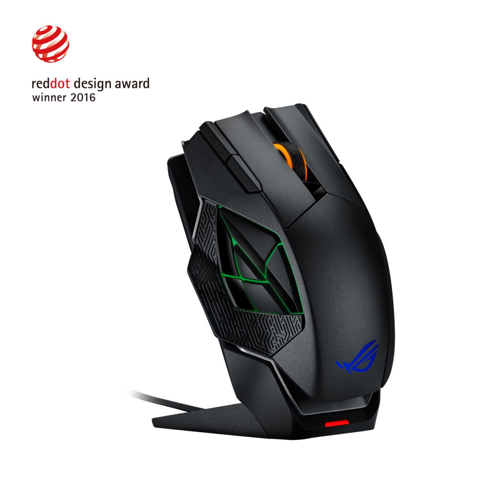 ASUS Republic of Gamers anuncia el mouse gaming: Spatha - asus-raton-optico-spatha