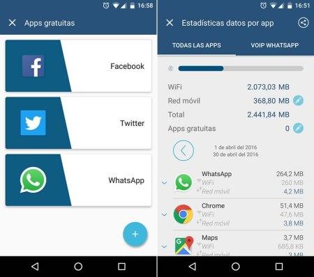 Weplan permite seleccionar las apps que tienes gratis en tu plan