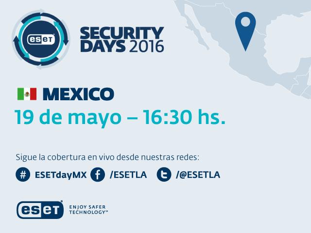 Llega la sexta edición del ESET Security Days México - eset-mexico