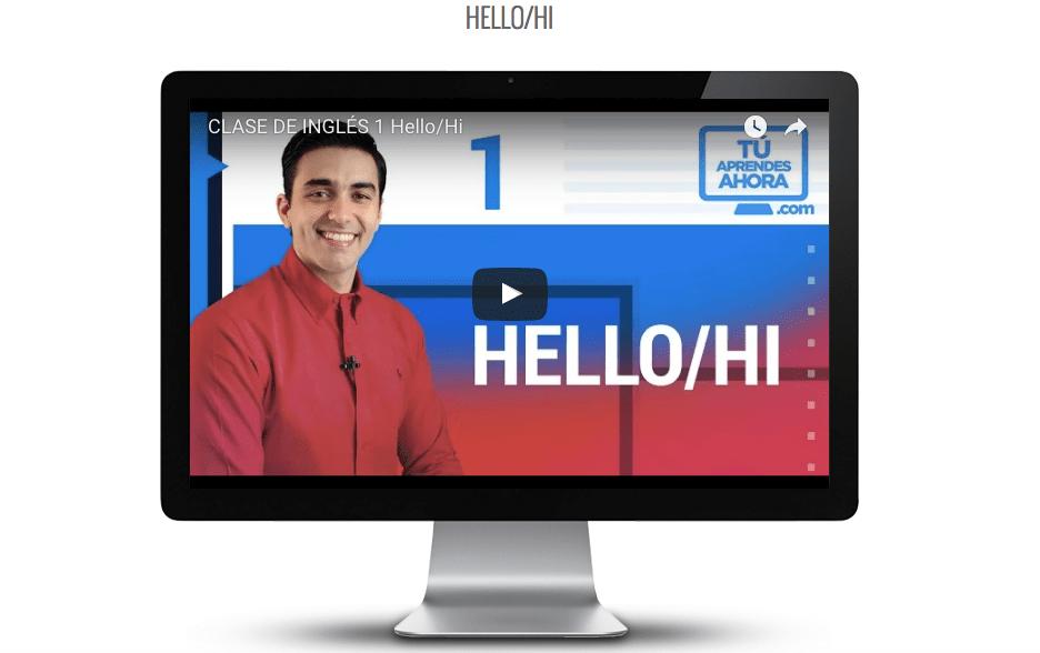 Tú aprendes ahora, plataforma online para aprender inglés de forma fácil - foto-video-clase
