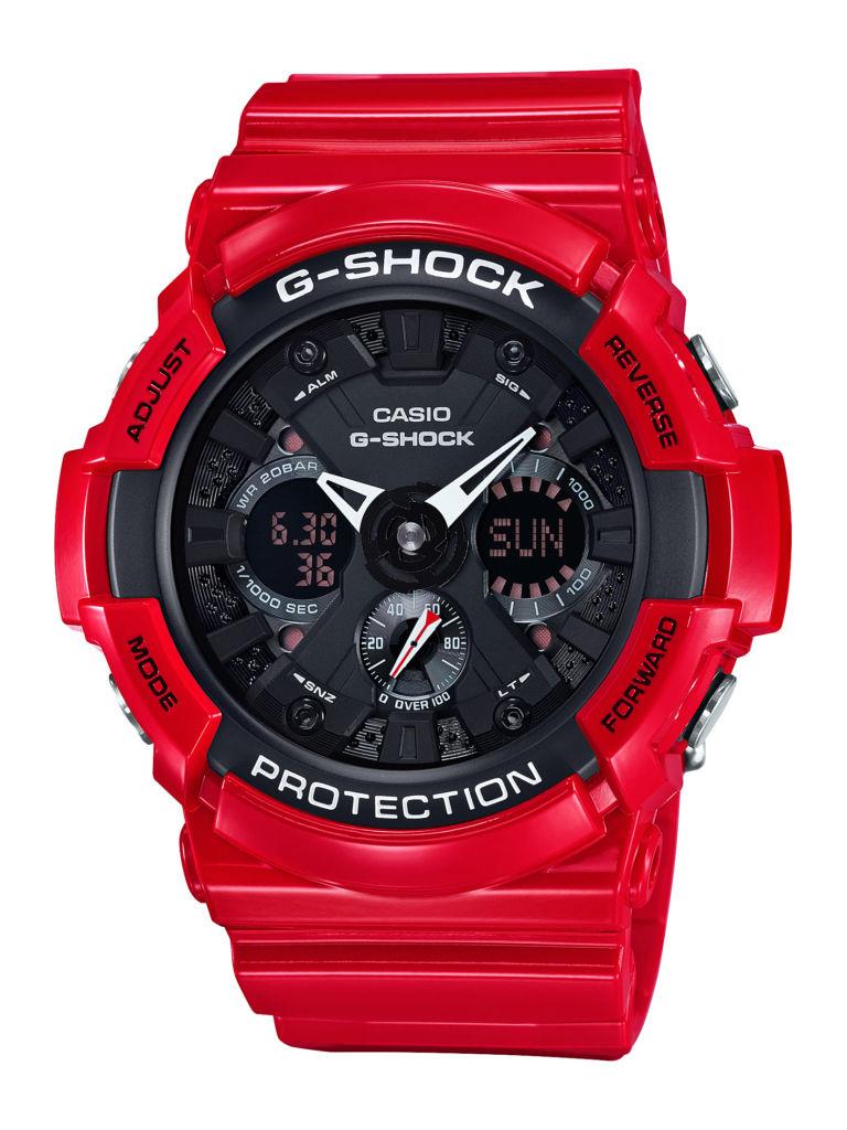 G-SHOCK presenta la nueva colección Solid Red, el rojo en su máxima expresión - ga-201rd-4a-1