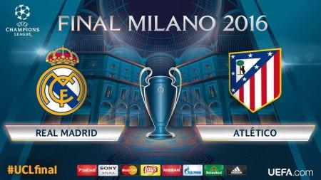 Hora Real Madrid vs Atlético de Madrid, final de Champions 2016 y opciones para verla
