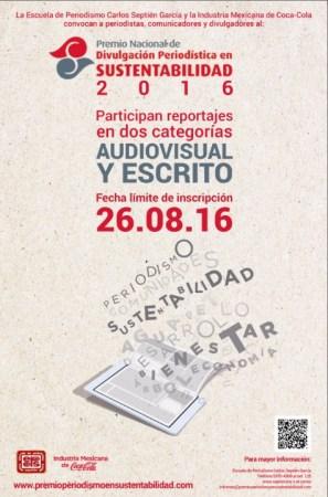 Convocatoria para el Premio Nacional de Divulgación Periodística en Sustentabilidad 2016