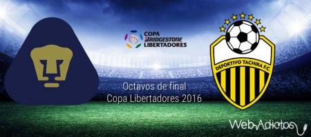 Pumas vs Táchira, vuelta de octavos ¡En vivo por internet! | Libertadores 2016