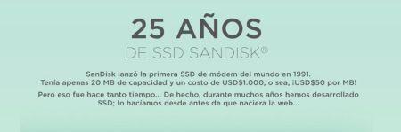 Celebra SanDisk 25 años del SSD, tecnología que reemplazó al disco duro