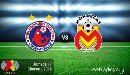 Veracruz vs Morelia, Jornada 17 del Clausura 2016 ¡En vivo por internet!