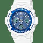 Conoce las tres colecciones White G-Shock - awg-m100swb-7a