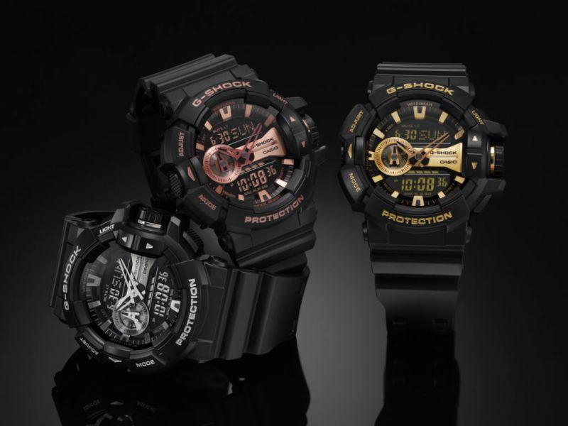 G-Shock anuncia tres nuevo modelos de su serie Metallic Dial - ga-400gb_serie-metallic-dial