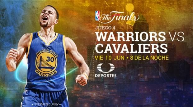Warriors vs Cavaliers, Juego 4 Final NBA 2016 - warriors-vs-cavaliers-nba-finals-2016-televisa-deportes