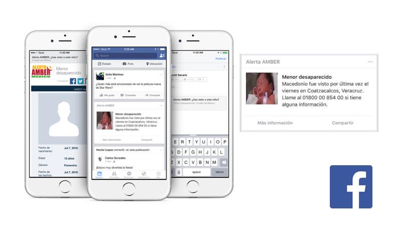Facebook difundirá la Alerta AMBER en México - alerta-amber-facebook-mexico