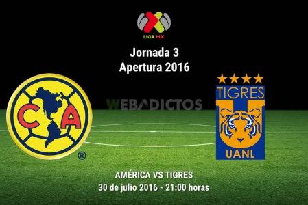 América vs Tigres, J3 del Apertura 2016 ¡En vivo por internet!