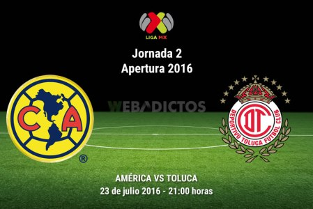 América vs Toluca, J2 del Apertura 2016 | Resultado: 3-1
