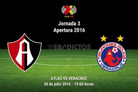 Atlas vs Veracruz, Fecha 3 del Apertura 2016 ¡En vivo por internet!