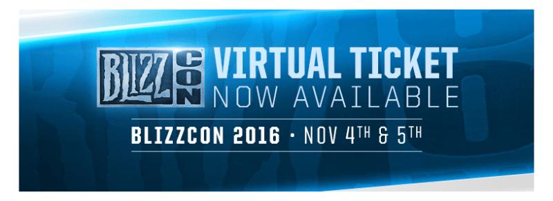 Boleto Virtual de BlizzCon 2016 ¡Ya disponible! - blizzcon2016-800x292
