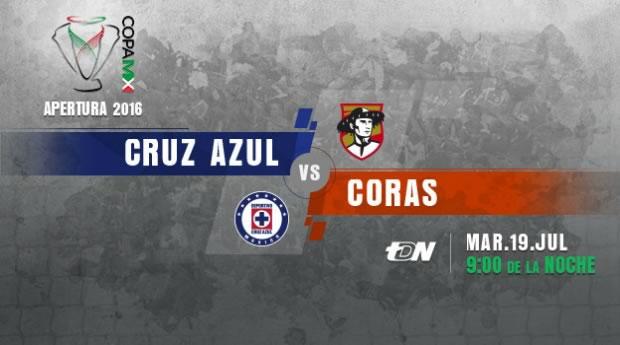 Cruz Azul vs Coras, Copa MX Apertura 2016 | Resultado: 2-0 - cruz-azul-vs-coras-en-vivo-copa-mx-apertura-2016