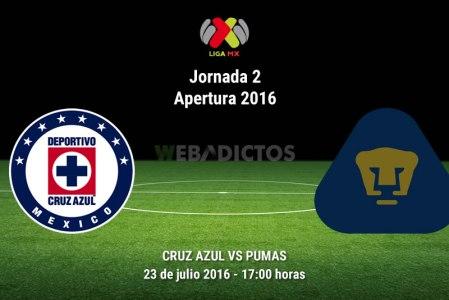 Cruz Azul vs Pumas, J2 del Apertura 2016 ¡En vivo por internet! | Liga MX