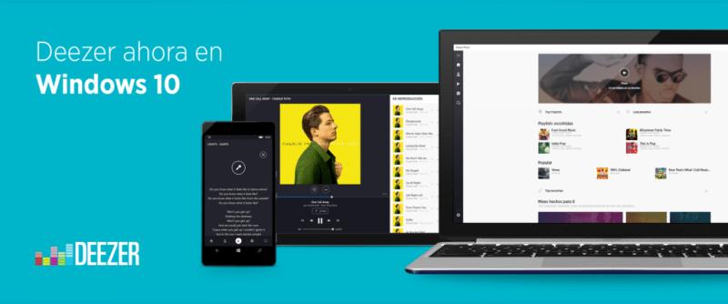 deezer para windows 10 800x334 Deezer presenta su versión optimizada para Windows 10