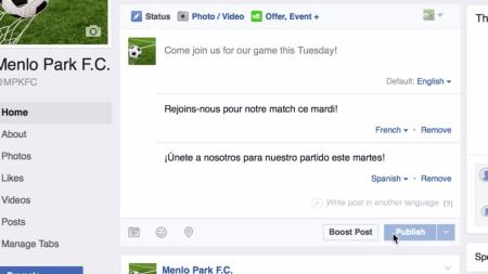 Facebook permitirá publicar en varios idiomas