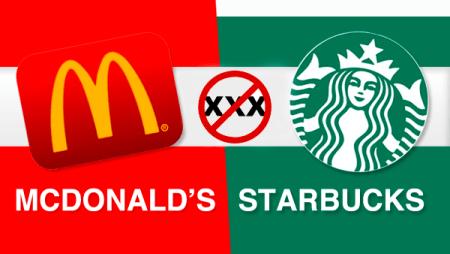 Starbucks y McDonald's bloquean acceso a sitios web para adultos