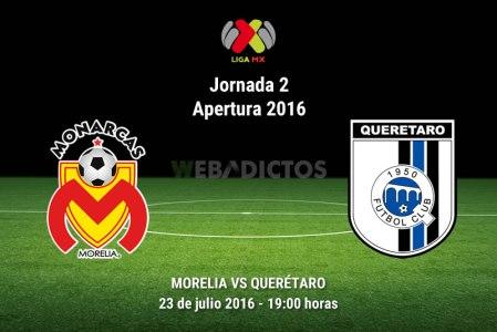 Morelia vs Querétaro, J2 del Apertura 2016 ¡En vivo por internet!