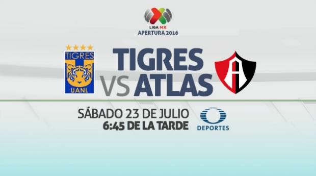 Tigres vs Atlas, Jornada 2 del Apertura 2016   Resultado: 0-0 - tigres-vs-atlas-en-vivo-apertura-2016