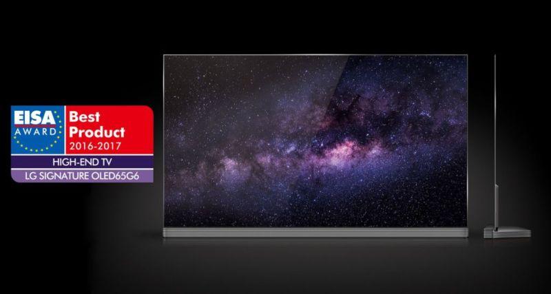 OLED TV de LG en los ESIA AWARDS, como el mejor televisor de gama alta - eisa-award_1-800x427