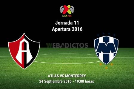 Atlas vs Monterrey, J11 del Apertura 2016 | Resultado: 3-1