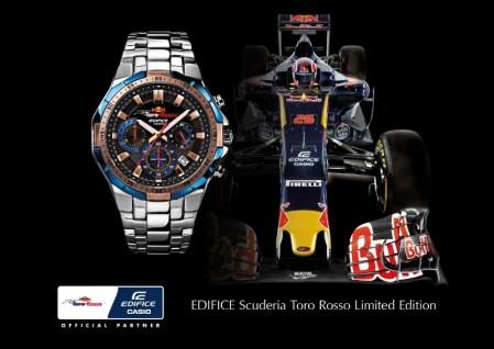 Casio presenta el primer reloj de su asociación con la Scuderia Toro Rosso
