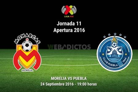 Monarcas Morelia vs Puebla en el Apertura 2016 | Jornada 11 | Resultado: 2-3