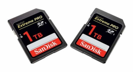 SanDisk prepara la primera tarjeta SD de 1TB