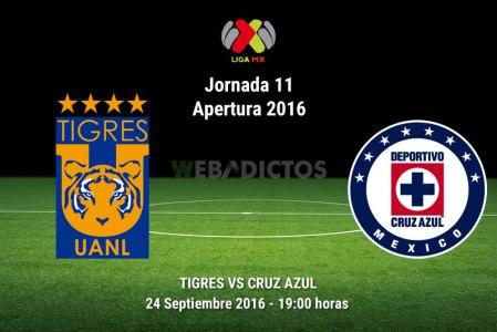 Tigres vs Cruz Azul, Fecha 11 del Apertura 2016 ¡En vivo por internet!