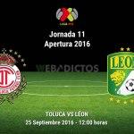 Toluca vs León, Jornada 11 del Apertura 2016 ¡En vivo por internet!