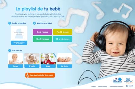 Nestlé y Spotify, apuestan por la música para bebés