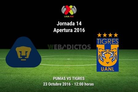 Pumas vs Tigres, Jornada 14 del Apertura 2016 | Resultado: 1-3