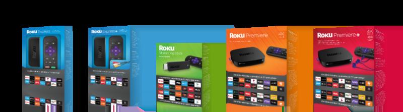 Roku Express: dispositivo para vivir la experiencia de streaming en tu TV - roku-line-up-packaging-wide-2-e1477160385100-800x222