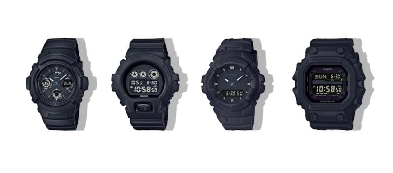 G-Shock presenta nueva serie Black Out, relojes totalmente en negro - serie-black-out_g-shock