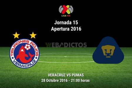 Veracruz vs Pumas, Jornada 15 del Apertura 2016 ¡En vivo por internet!