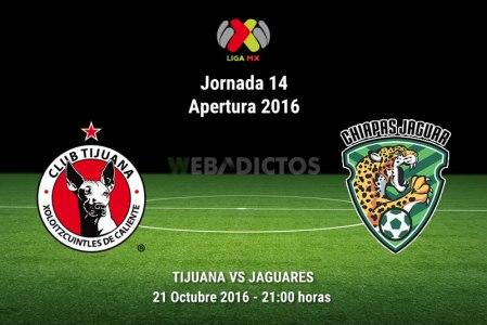 Xolos de Tijuana vs Jaguares, Jornada 14 del Apertura 2016 ¡En vivo por internet!