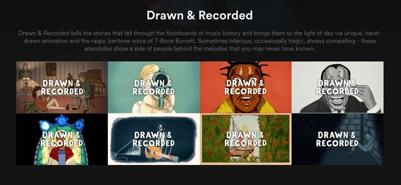 Spotify lanza su serie Drawn & Recorded con T Bone Burnett - drawn-and-recorded-serie-spotify