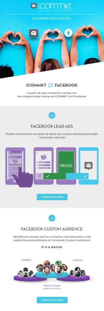 ICOMMKT anuncia integración de su plataforma con Facebook - icommkt-facebook