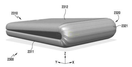Samsung registra una patente para un teléfono plegable