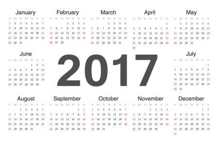 Calendario 2017, opciones para descargar calendarios para imprimir