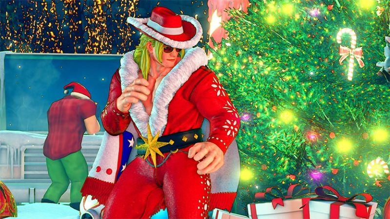 Street Fighter V recibe una actualización muy navideña - ken_holiday