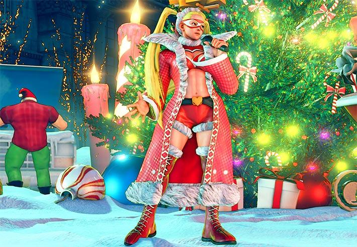 Street Fighter V recibe una actualización muy navideña - r_mika_holiday
